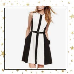 Vince Camuto Black&White colorblock dress (C7)